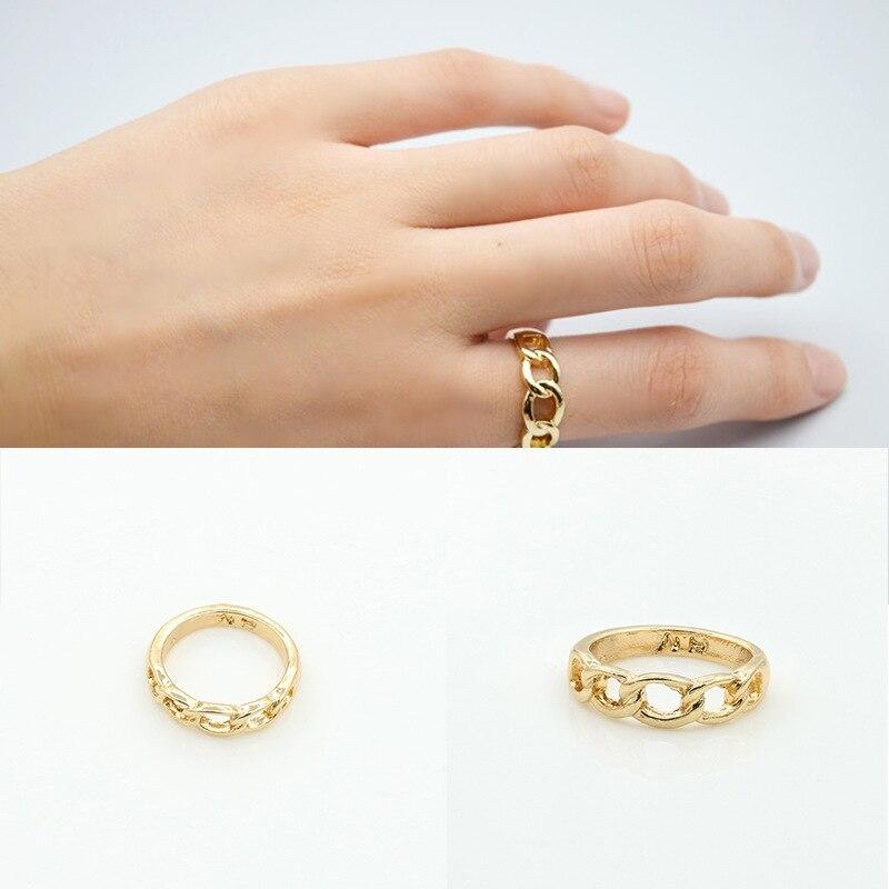 ¡Novedad! anillo gótico Vintage estilo Punk con forma de cadena geométrica de Metal, anillos de boda de la mejor calidad para hombre, joyería para mujer