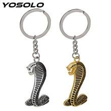 Yosolo Metal Cobra Snake Embleem Badge Sleutelhanger Sleutelhanger Auto Sleutelhanger Interieur Accessoires