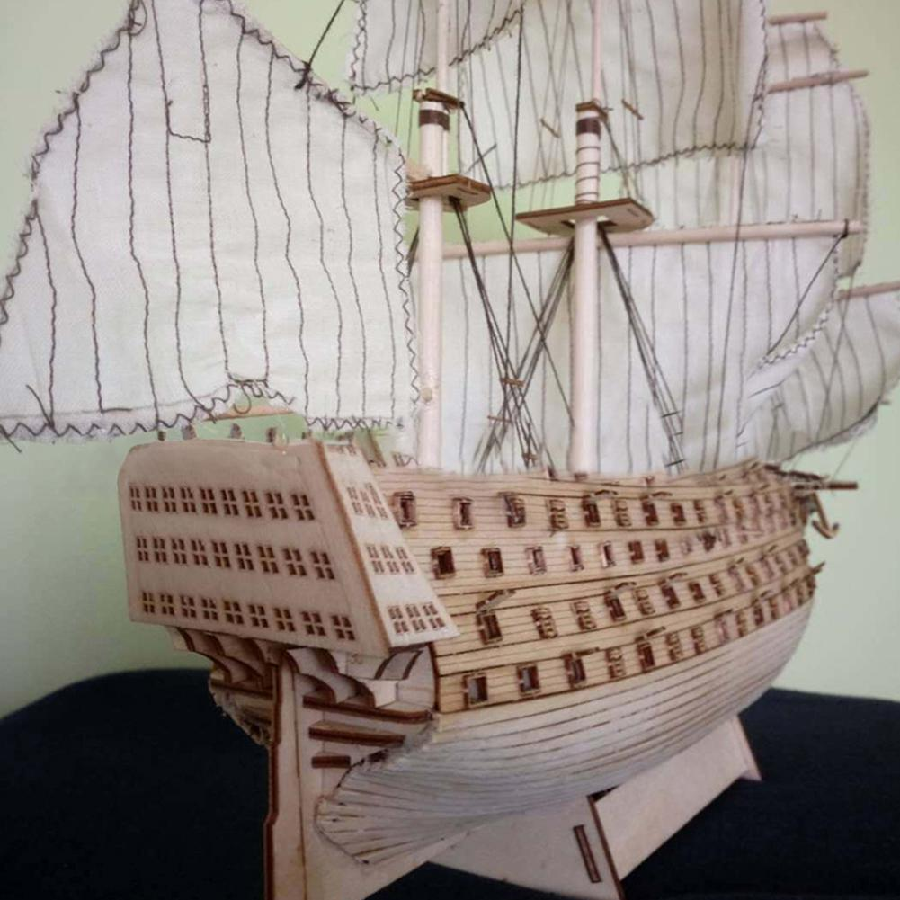 RCtown DIY madera montada victoria real buque de guerra velero modelado juguete Decoración
