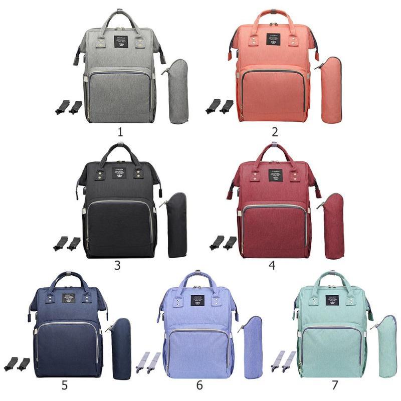 Bolsa de pañales LEQUEEN USB para maternidad, impermeable, con carga USB, mochila grande para lactancia momia, mochila de gran capacidad