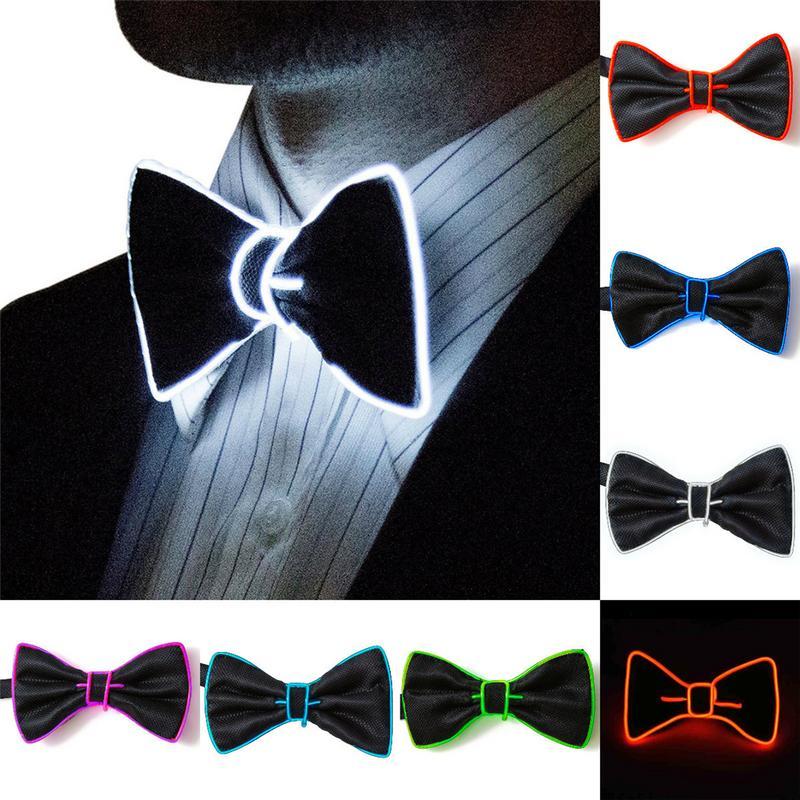 Hot Sale Fashion Men LED Luminous Bow Tie Creative Flashing Dancing Party Wedding Bow Tie