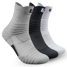 1 paire basket chaussettes homme longue épaississement serviette bas coton chaussettes extérieur courir Badminton Tennis moyen Tube Sport chaussettes