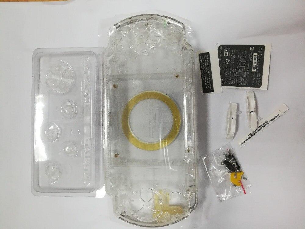 Color transparente para PSP3000 PSP 1000/2000/3000 repuestos para consolas de juegos cubierta de cobertura completa Funda con kit de botones