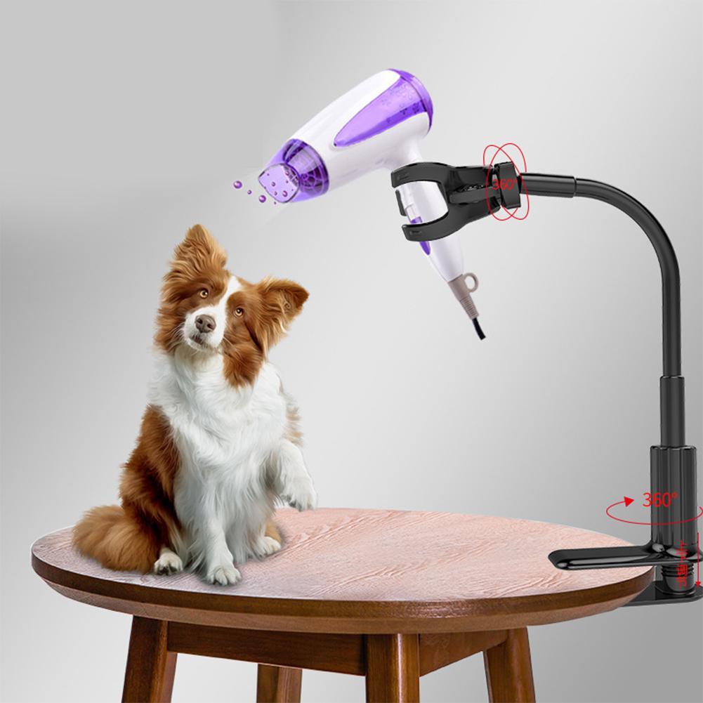 Grado de secador de mascotas, tres mandíbulas, soporte de soporte para secador de pelo, abrazaderas de marco de soporte para secado de perro/gato