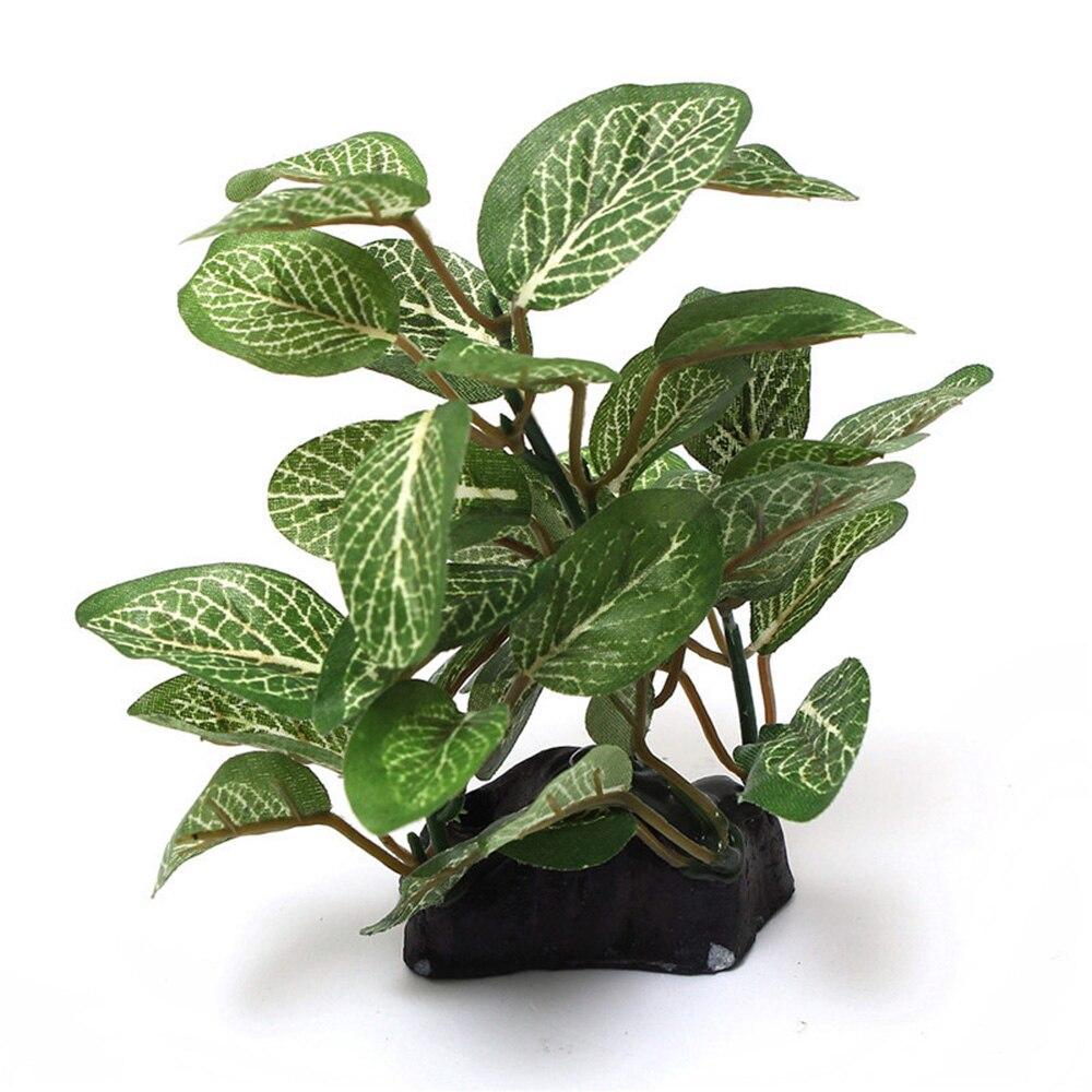 2019 מכירה לוהטת אקווריום תת ירוק צמחים מלאכותיים פלסטיק פיקוס עץ האקווריום קישוטי קישוט