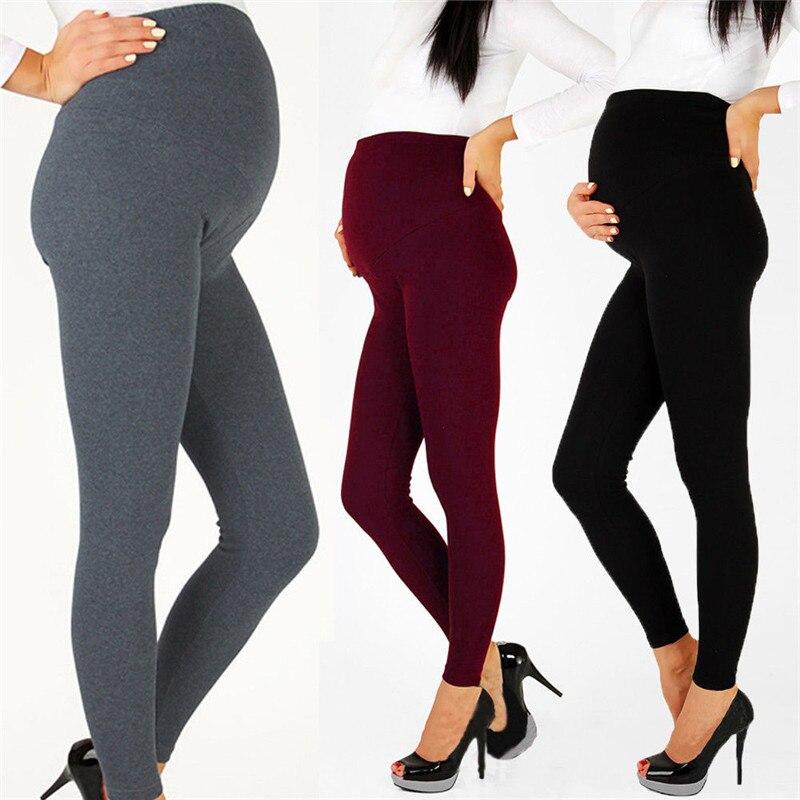 Gravidez maternidade inverno quente calças leggings cintura alta elástica térmica leggings sólido espessado calças roupas para grávidas