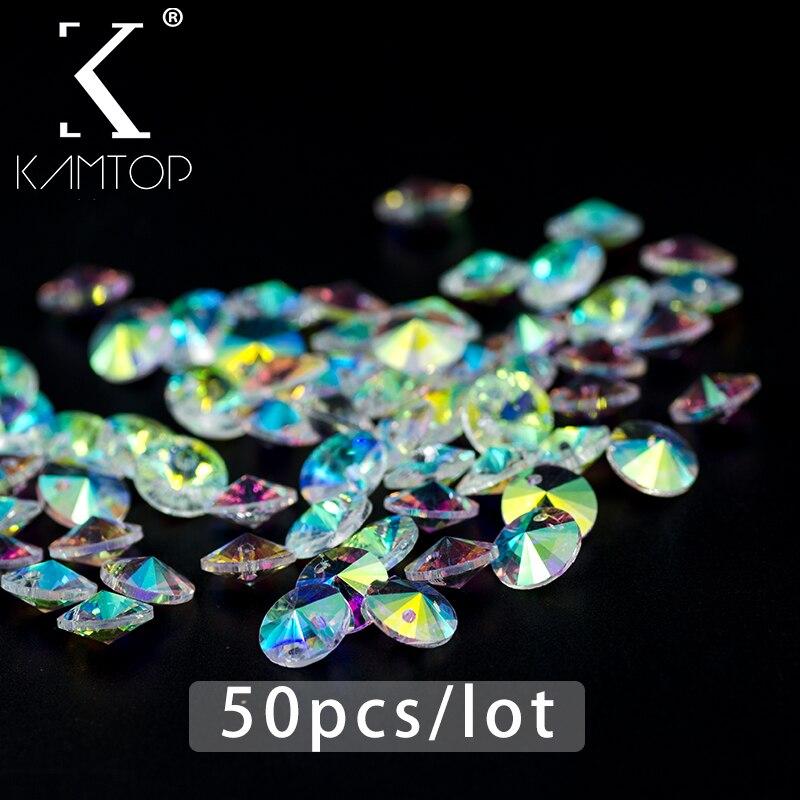 50pcs / lot 6/8mm AB colour Glass Crystal 6428 xilion pendant Bead, Handmade Necklace Bracelet Jewelery Making Material