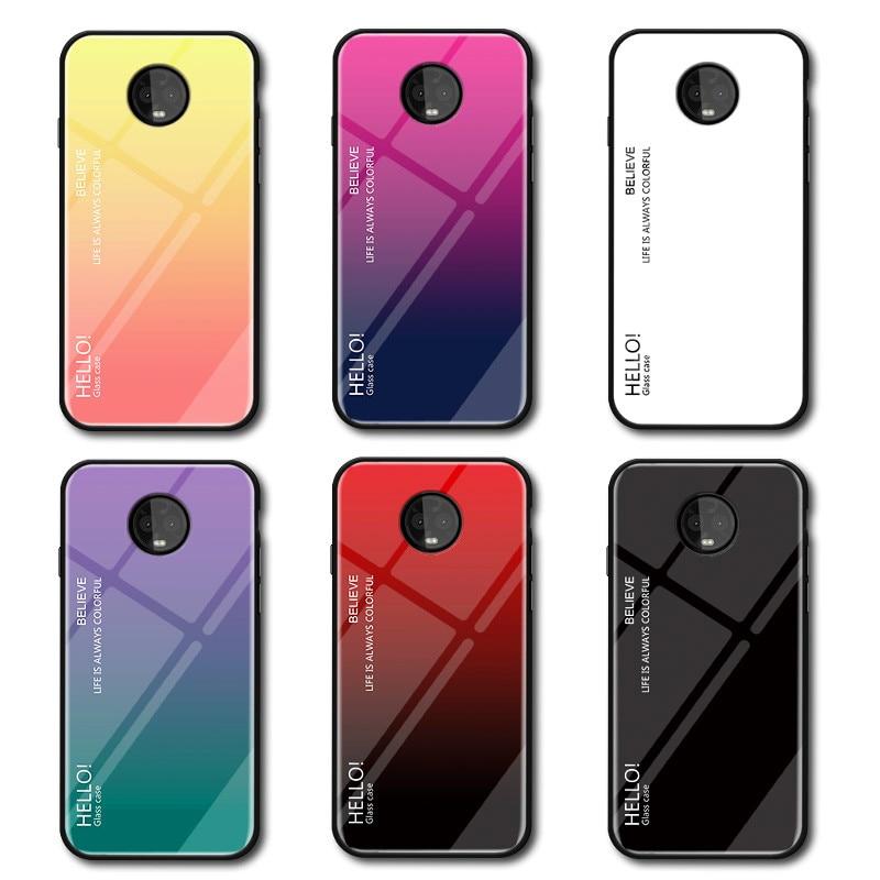 Для Motorola G5S Plus чехол градиентный Aurora закаленное стекло цветная задняя крышка чехол для телефона Moto G5S XT1792 XT1794 XT1795 XT1797