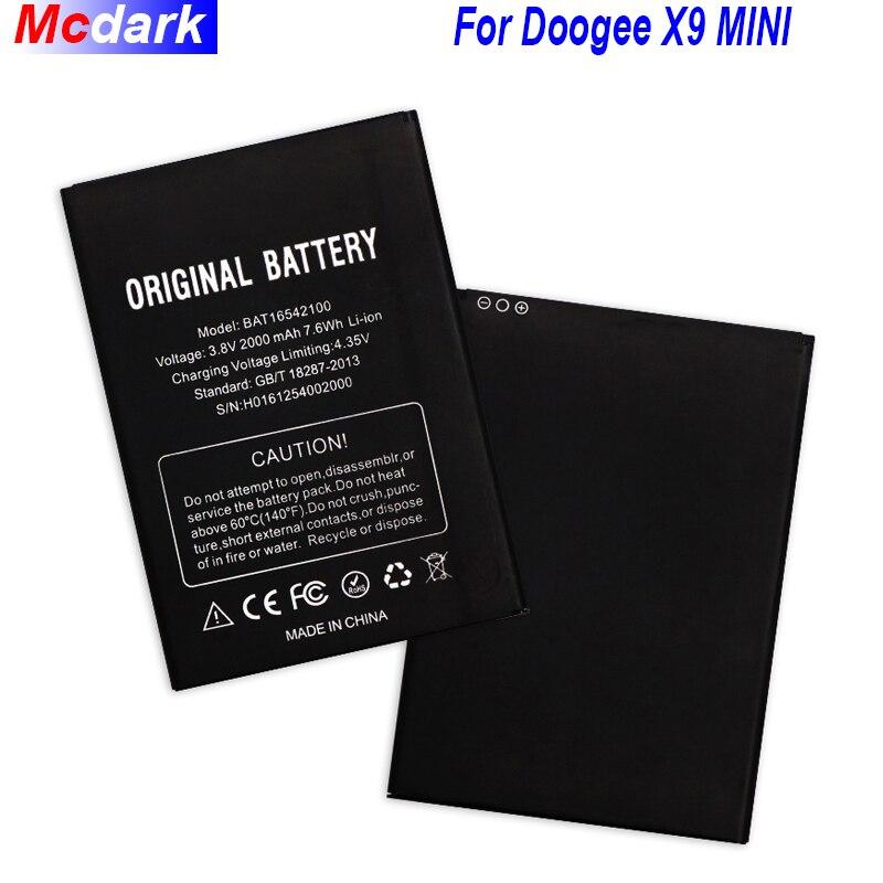 Para Doogee X9 MINI Batería 2000mAh BAT16542100 batería para Doogee X9 MINI acumulador de teléfono inteligente