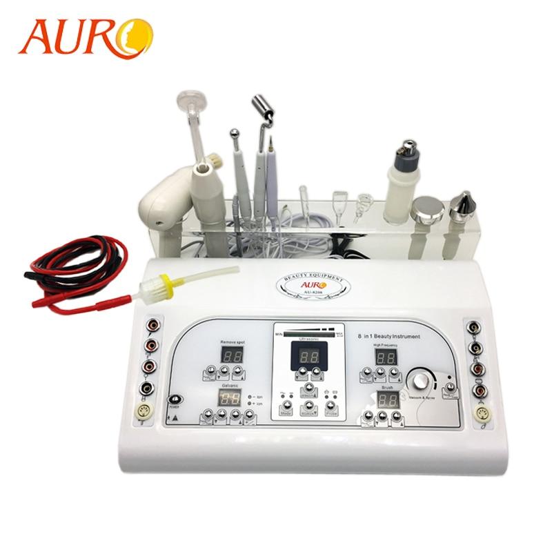 AURO-آلة تدليك الوجه الجلفانية ، بخاخ فراغ متعدد الوظائف 8 في 1 بالموجات فوق الصوتية ، معدات تجميل الوجه ، جديد 2019