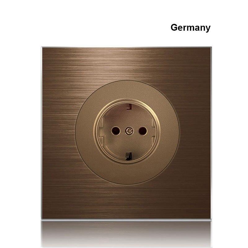 86 tipo europa reino unido alemanha frança café liga de alumínio soquete 1 2 3 4 gang 1 2way imprensa interruptor indústria doméstico