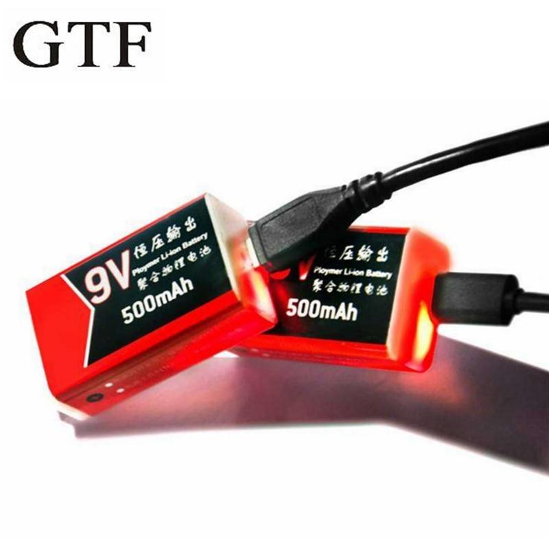 GTF 9V 500mAh ı ı ı ı ı ı ı I ı ı ı ı ı ı ı ı ı ı ı ı-polimer USB Pil Şarj Edilebilir lityum pil Multimetre Mikrofon Oyuncak Uzaktan Kumanda açılır kargo