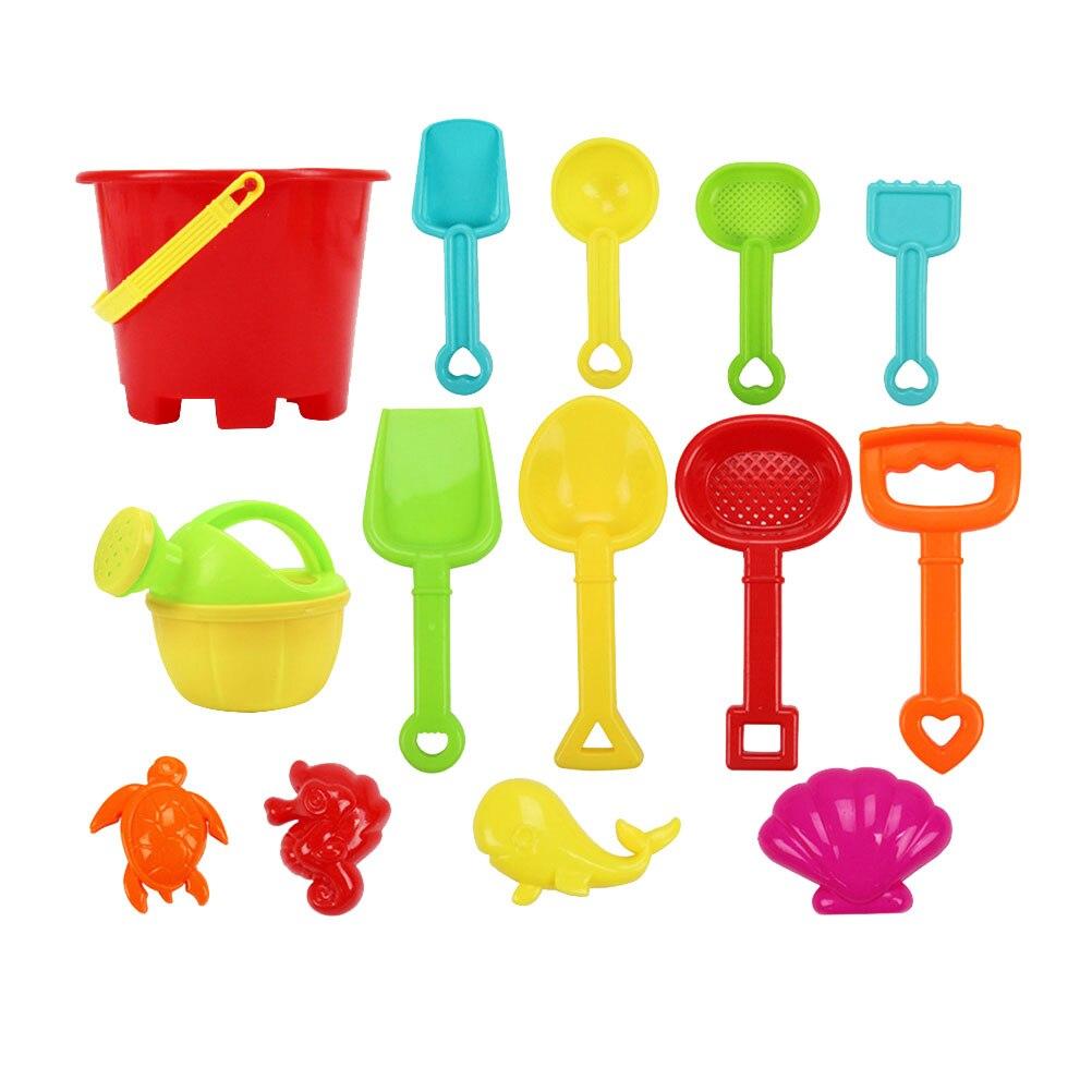 1 ensemble vie Marine plage jouet loisirs en plastique outil sable pelle plage jouets avec seau et maille sac jeu jouets pour enfants