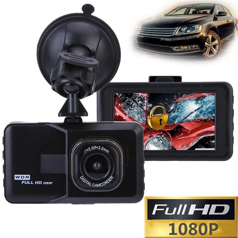 Профессиональный Full HD 1080P 3 дюйма 120 градусов Автомобильный видеорегистратор Камера Обнаружение движения Ночное Видение G Датчик Кронштейн