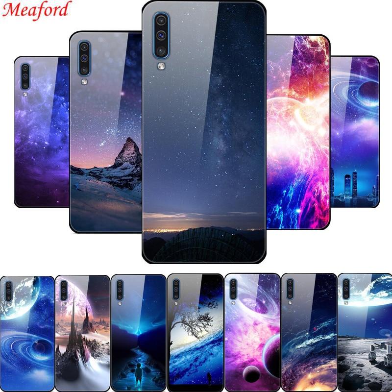 Funda Popular para Samsung Galaxy A50 A30s A51, carcasa trasera de cristal para Samsung A71 A51 A70 A50, carcasa A 51 A 71 A 50, parachoques