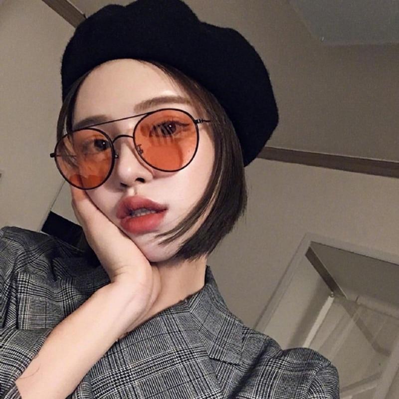 Vintage Retro Fashion Oversized Sunglasses Women Men Big Metal Frame Ladies Sun Glasses Party Eyewea