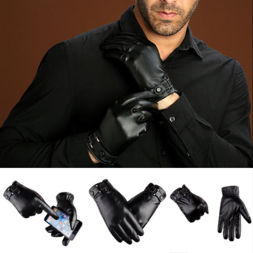 Plus Velvet 2018 men's genuine leather gloves sheepskin gloves fashion female windproof gloves autum