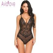 Avidlove New Lady Lingerie Sexy Hot Erotic Teddy Bodysuit Women Lace Spaghetti Strap Chemise Underwear Langeri Porn Sex Costumes
