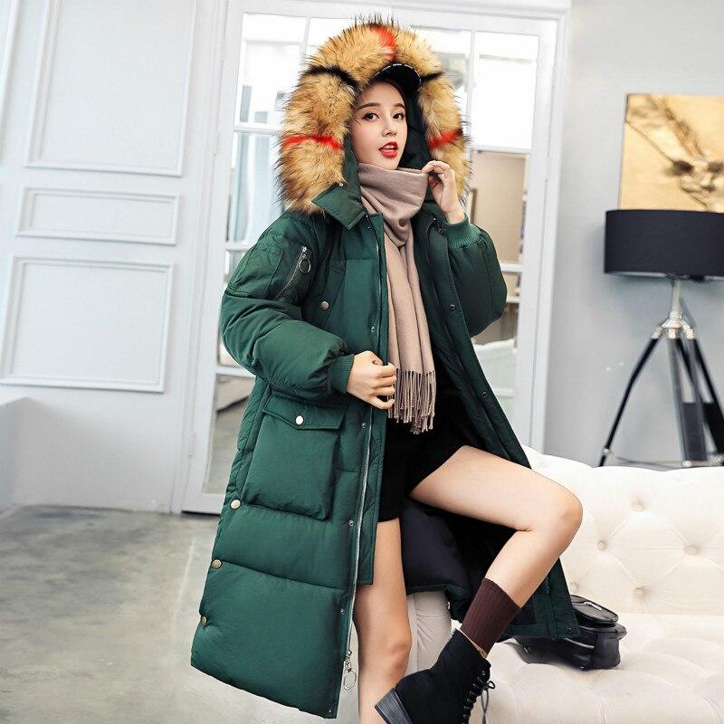 2018 traje de invierno vestido largo coreano fondo de algodón acolchado ropa de mujer nuevo patrón Seta plomo engrosamiento estudiante SOCKS Overknee de algodón