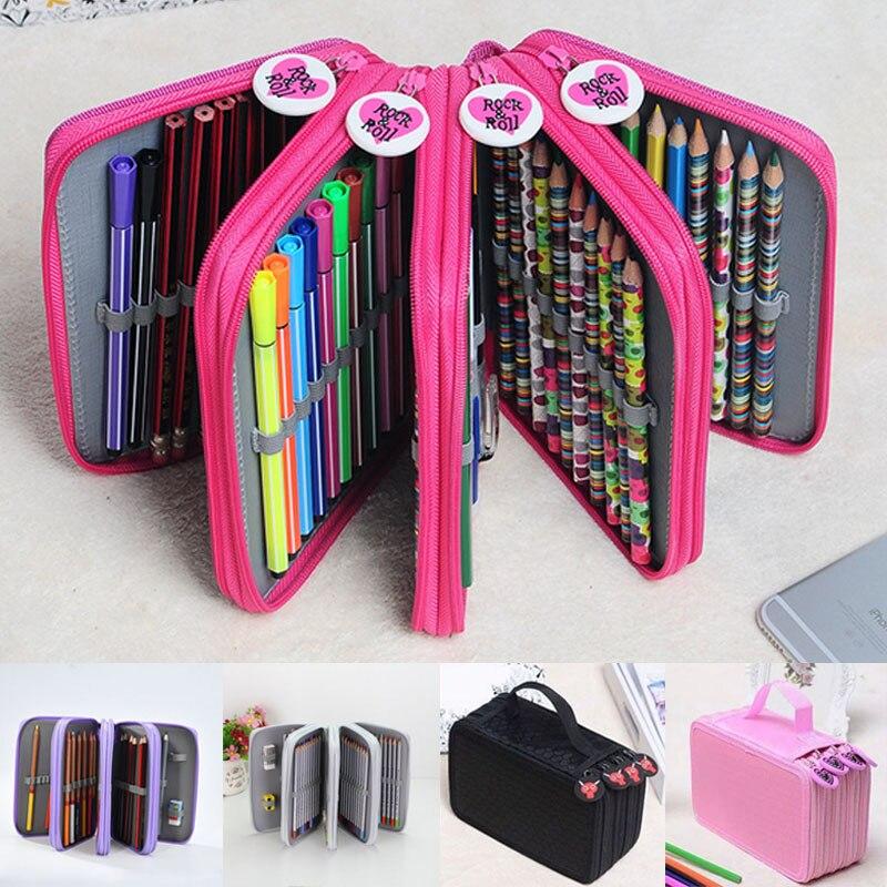 Storage Bag Pencil Case Stationery Zipper Pencil Case Holder Sleeve Pen Organizer Pencil Case Stationery