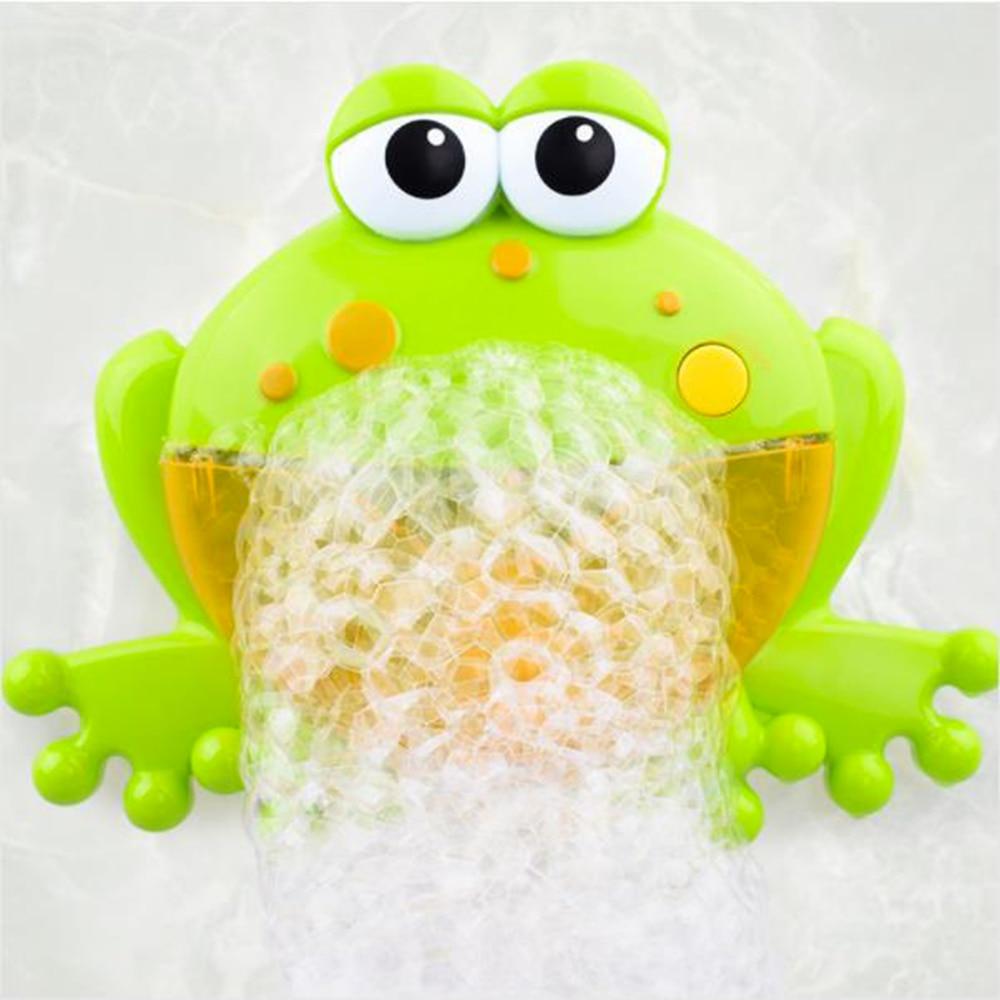 Baby Bath Bubble Machine  Bathroom Accessories Sets Big Frogs Automatic Bubble Maker Blower Music Maker Bathtub Soap Machine