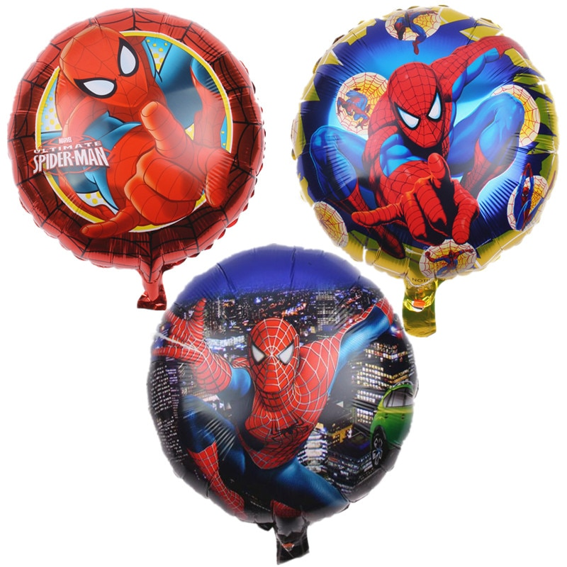 1 teile/los Folie Ballon Kinder Favor Spinne-Mann Thema Luftballons Kinder Geburtstag Thema Party Baby Shower Weihnachten Dekoration Versorgung