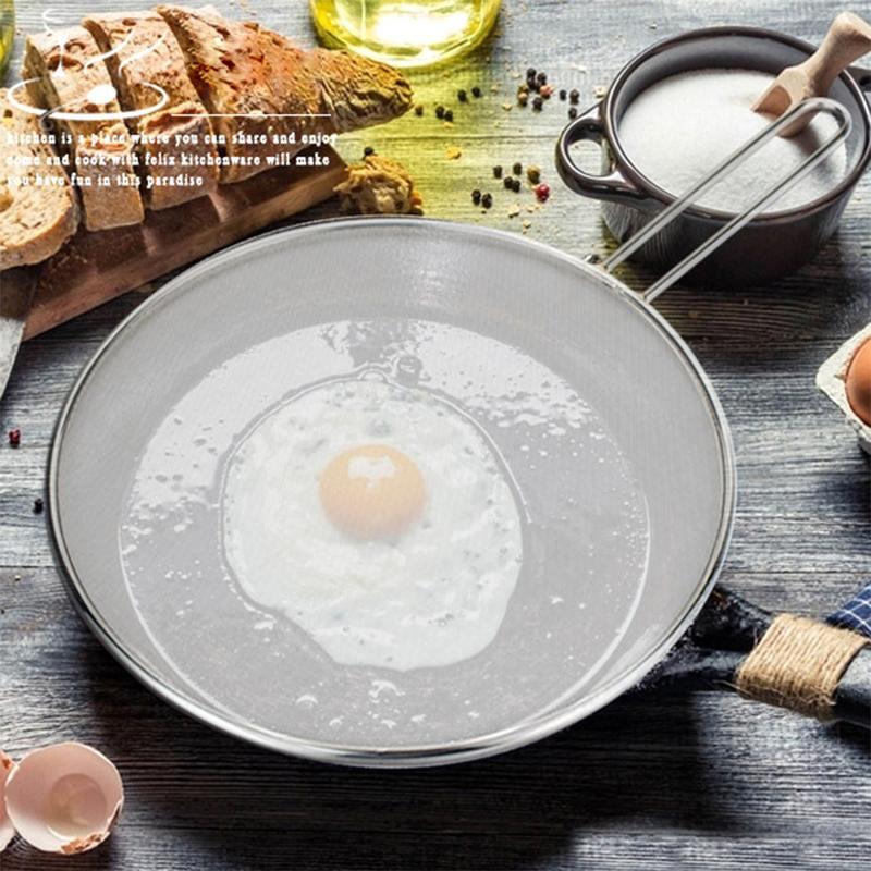 Cubierta de acero inoxidable para alimentos Pantalla de salpicaduras de grasa sartén aceite Prevención de salpicaduras de agua cubierta de malla Pan sopa Prevención de Mosquitos