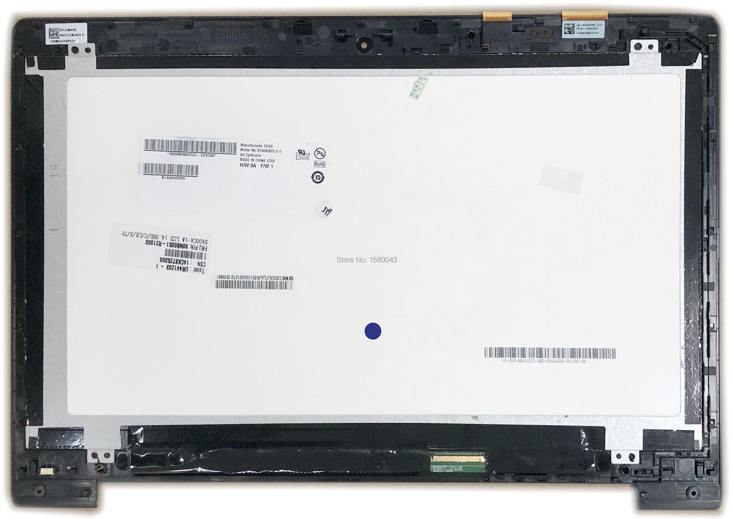 Pantalla LCD de pantalla táctil de cristal digitalizador asamblea para Asus Vivobook S400 S400C S400CA portátil JA-DA5343RA 5343R PFC-2