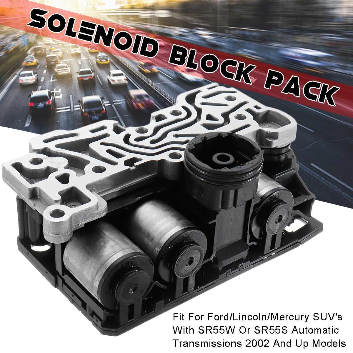 Paquete de bloque de solenoide actualizado para Ford Explorer Mountaineer 5R55S 5R55W automático 15,5x9,5x6,8 cm estabilidad protección contra la corrosión