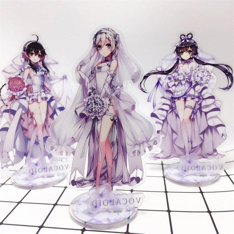 Vocaloid Luo Tianyi figuras de acción anime grabación en relieve Video Tianyi Luo juguete acrílico muñeca de cosplay vestido chica