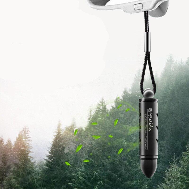 Ambientador colgante de aleación para coche, bala, bálsamo de Perfume sólido, purificador de aire, suspensión de espejo retrovisor para el Interior del coche