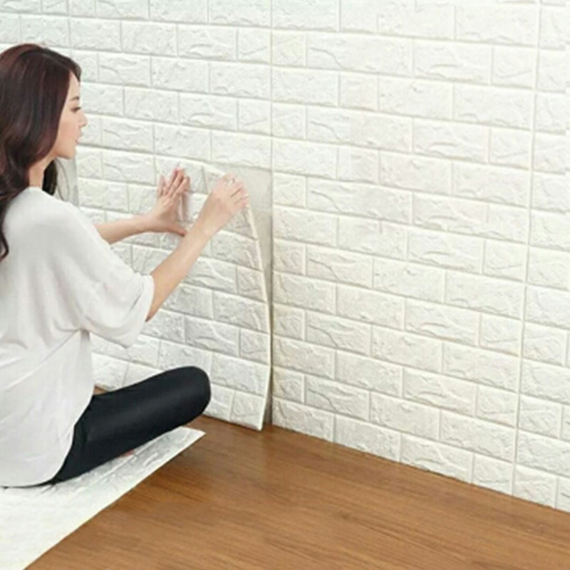 3D Wall Panel Stickers Living Room 3D Brick Wallpaper for Kids Room Bedroom Home Decor 3D Wall Covering Self adhesive Wallpaper 3d retro simulated brick wallpaper for living room bedroom diy wall decor self adhesive waterproof wall covering wall stickers