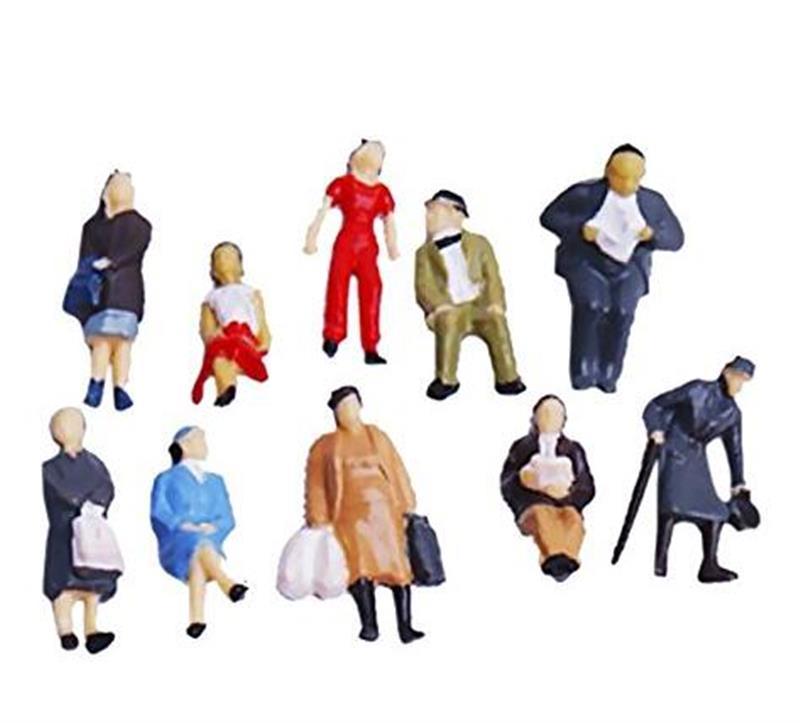 Новая окрашенная модель поезда, 100 шт., 1/150 г., цветные мини-фигурки для мужчин, женщин, детей
