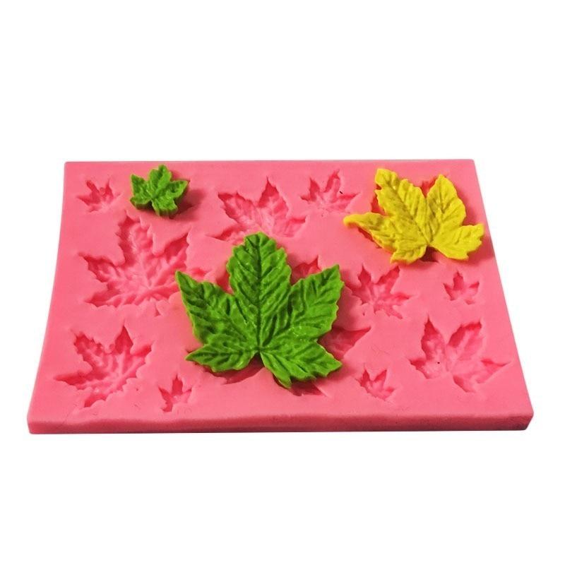 Пищевая силиконовая форма для выпечки кленового листа DIY Инструменты для украшения торта помадные формы для шоколада торта аксессуары для ...