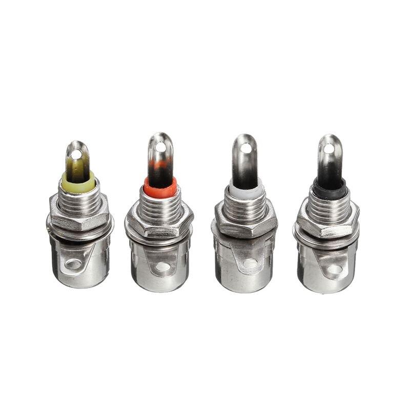 4 piezas para conectores de enchufe Jack de montaje en Panel RCA conectores de Audio de grado profesional negro + rojo + blanco + amarillo