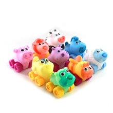 6Pcs Bath Toy Infant Bath Car Toys Little Rubber Floating Bath Time Fun Water Pool Toys for Kids Babies (Random Color)
