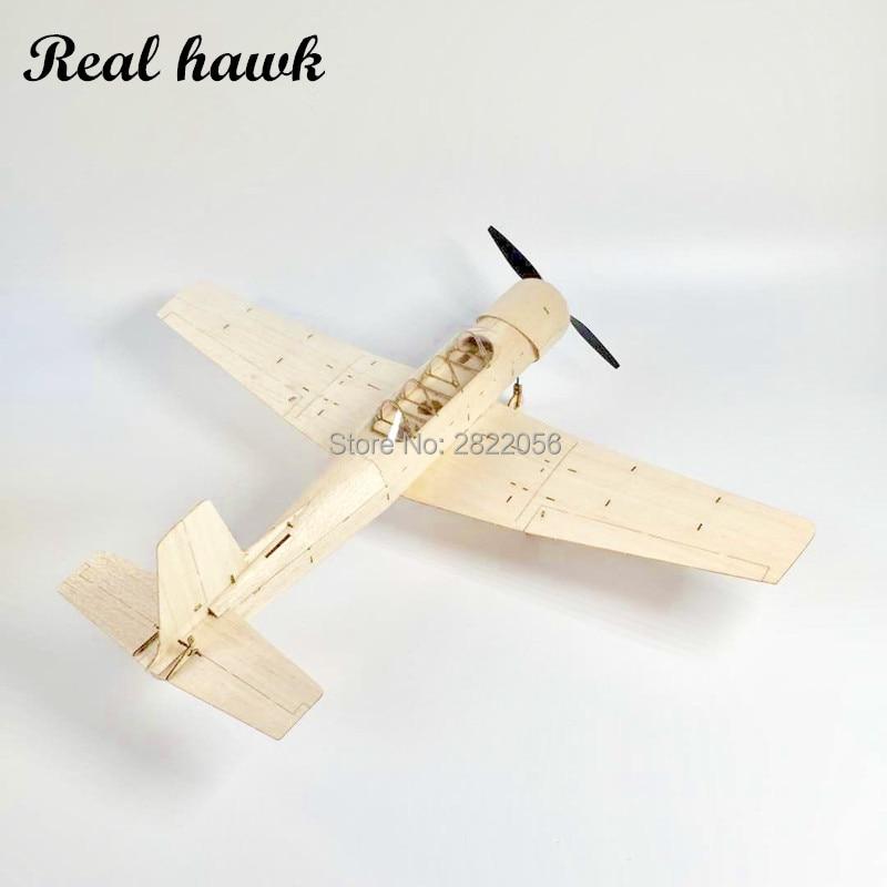 Mini RC Plane Laser Cut Balsa Wood Airplane Kit Mentor CJ6 Model Building Kit
