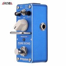 AROMA mono-3 pura Echo Digital retraso pedal de efecto guitarra eléctrica Mini sola con efecto Bypass verdadero
