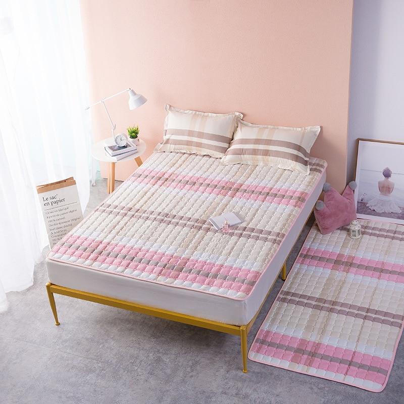مفرش سرير للأطفال البالغين غطاء سرير مبطن ناعم مقاوم للانزلاق غطاء سرير شتوي مفرد ومزدوج مقاس كبير مقاس 14