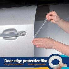 YOSOLO 1,5 cm x 5m película protectora de pintura protector contra rasguños de puerta Anti-rayado envoltura pegatina bordes de la puerta del coche estilo molduras