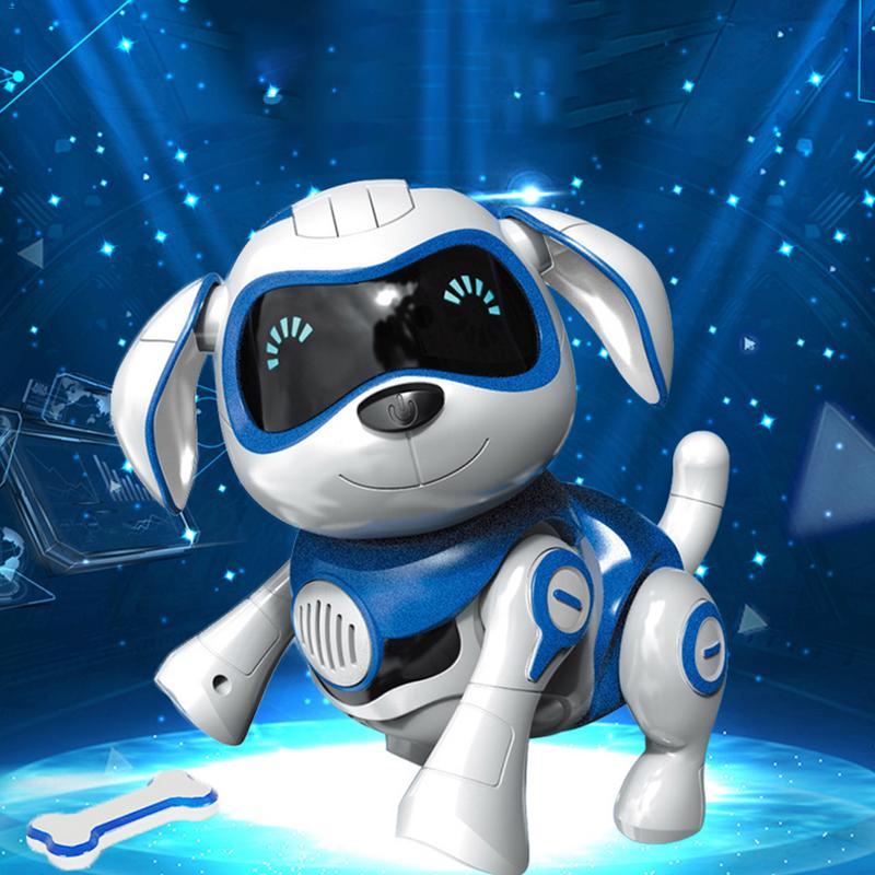 Perro robot electrónico inteligente, puede bailar, caminar, hablar, interactivo, perro electrónico, mascotas, juguetes para niños, bebés, niños, regalo de Año Nuevo