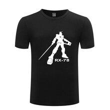 EXIA Gundam RX-78 Anime Cartoon męska koszulka T Shirt mężczyzn 2018 nowy krótki rękaw O szyi bawełna top na co dzień Tee
