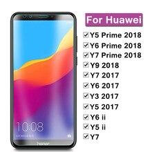 Schutz Glas Auf Die Für Huawei Y5 Y6 Y7 Y9 Prime 2018 Y 5 6 7 9 2017 Ii Glas bildschirm Schützen Huawey Huvai Abdeckung Schützen Film