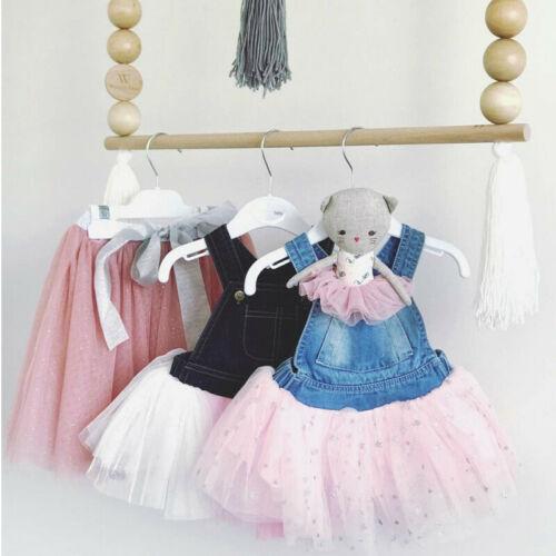 Vestidos de verano para niñas pequeñas Vestidos de princesa vestido de encaje Denim sin mangas tutú de fiesta de boda Vestidos de tul