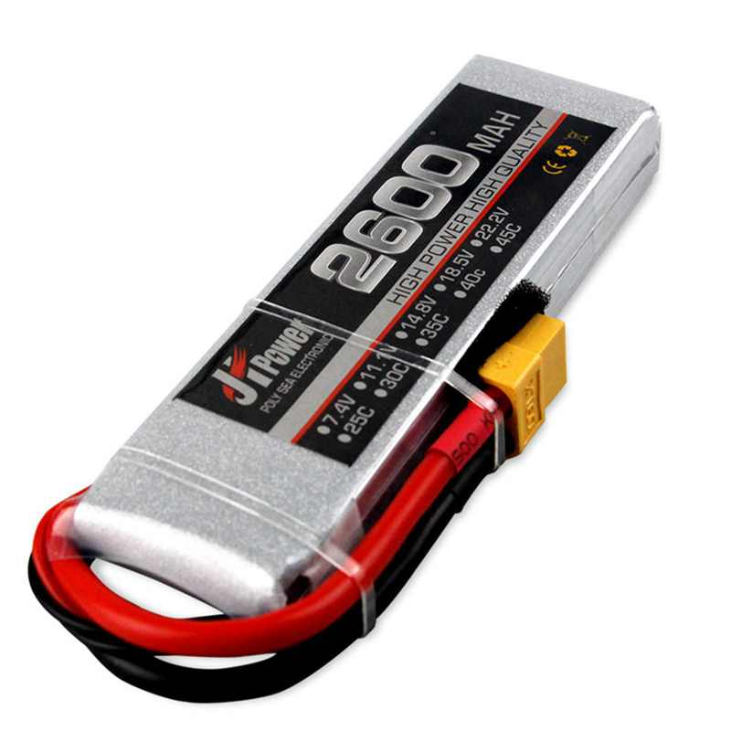 Batería de coche JH Lipo RC de alta calidad 2600-2s-35c 7,4 v T/TX60 enchufe Lipo batería para coche 1/10 RC modelos de Dron de carreras RC FPV