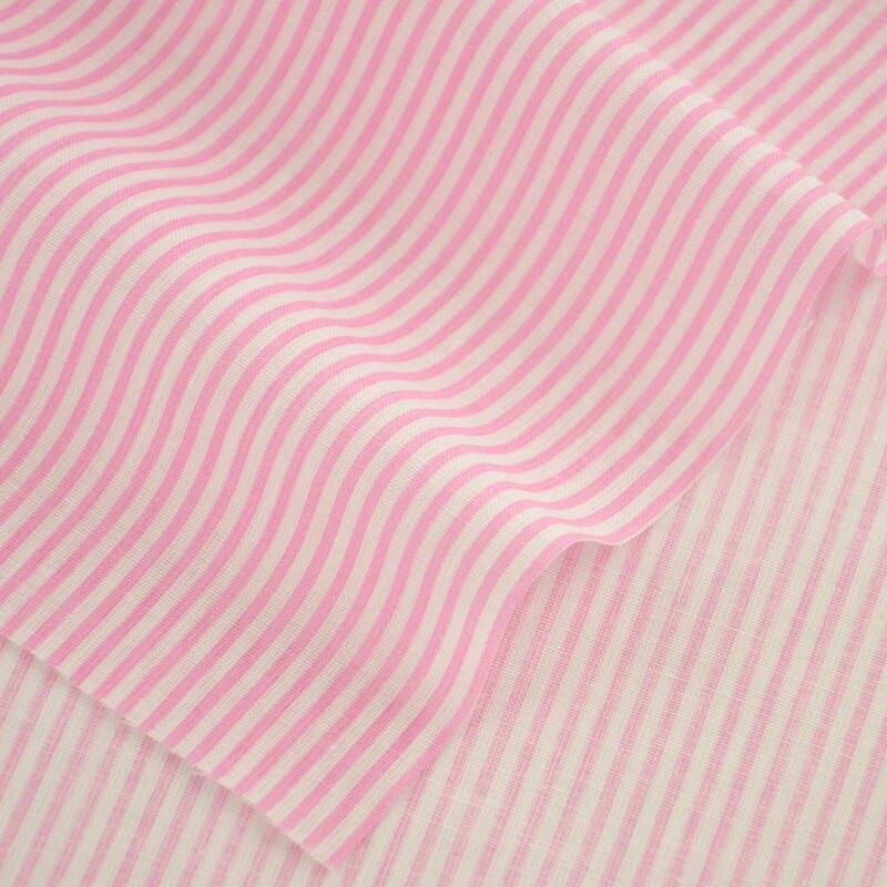 Tecidos de algodão de Costura Rosa e White Stripes Desenhos Impressos Tecidos Têxtil para Roupas de Boneca Artesanato Srt Trabalho Vestido Trimestre Gordura