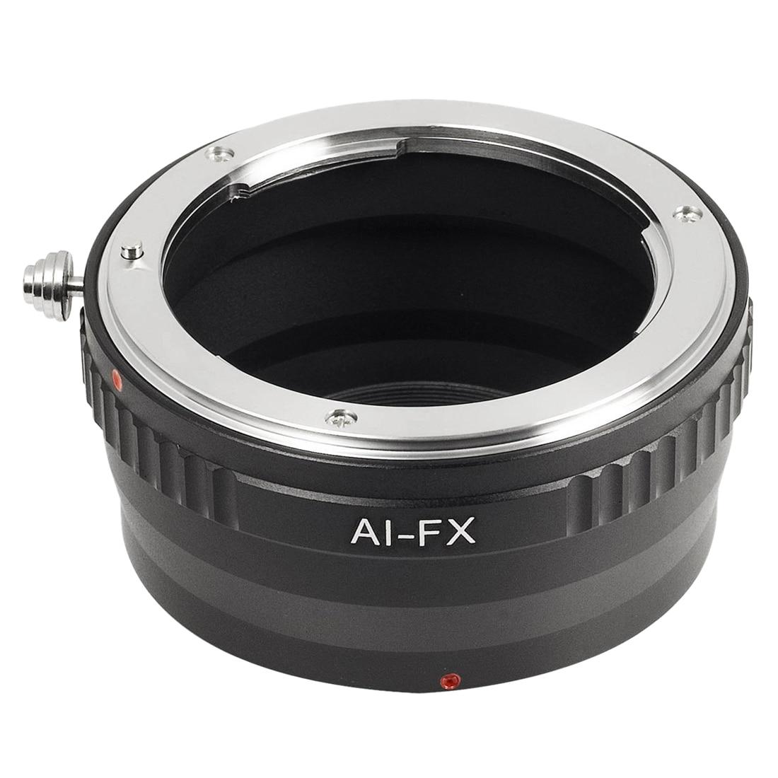 Black Lens Adapter For Nikon F AI Lens to Fujifilm X Mount Camera Fit Fuji X-E1 DC287