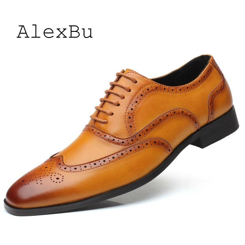 AlexBu Novo Homem Vestido Sapatos Sapatos de Couro de Singles Para Homens Flats Zapatillas Sapato Casamento Tendência Casual Masculino Sapatos de Couro Italiano de Luxo