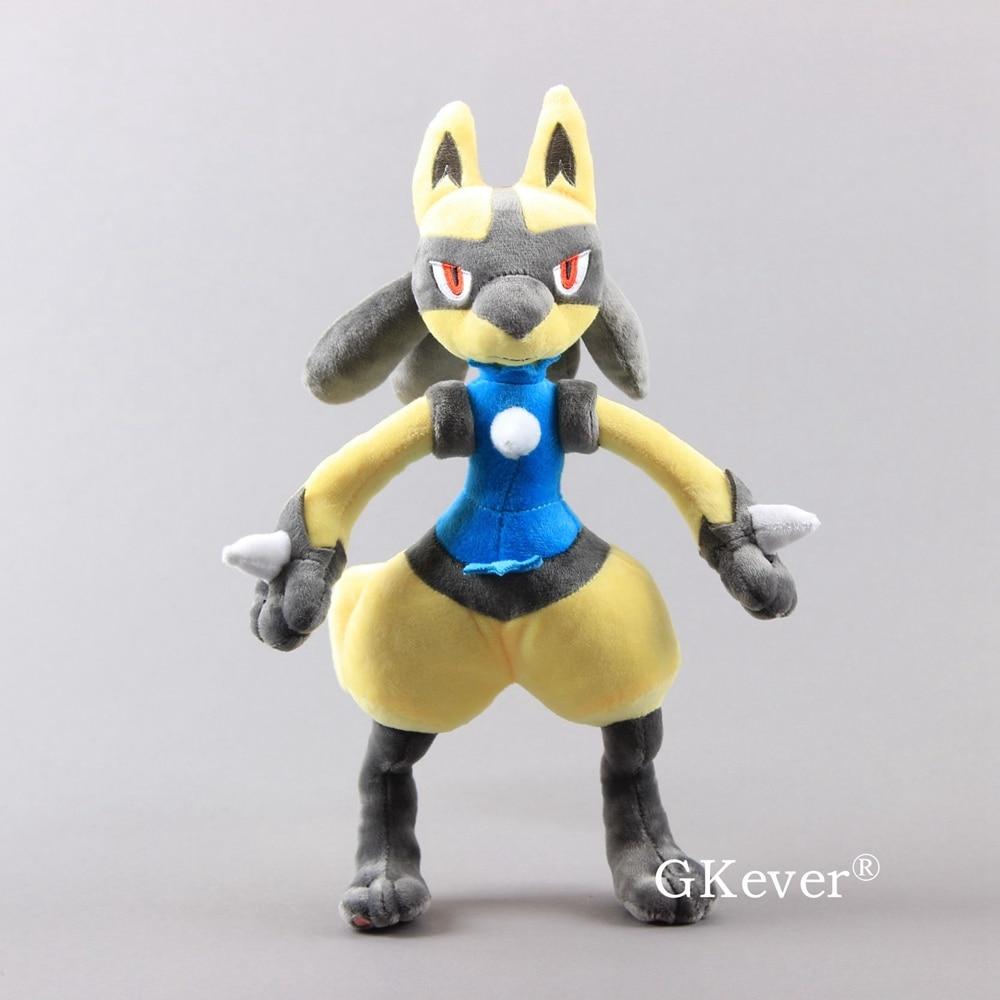 "Animé Monster amarillo Lucario peluche juguete dibujos animados Lucario suave muñecas peluches 12 ""30 cm"