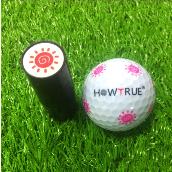 Sello de estampado de bolas de Golf de plástico + silicona marcador de impresión estampado para regalo Premio accesorios de Golf para Golfista